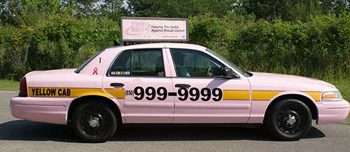 pink yellow cab